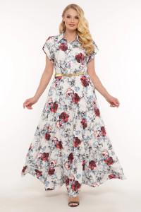 Платье «Алена» белого цвета
