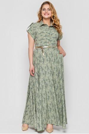 Сукня «Альона» оливкового кольору