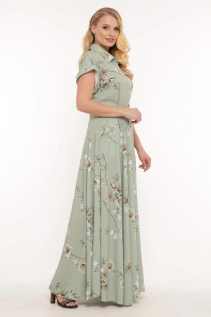 Платье «Алена» оливкового цвета