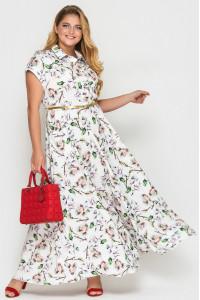 Платье «Алена» с принтом-флора