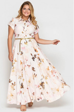 Платье «Алена» цвета пудры