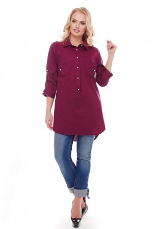 Рубашка «Стиль» винного цвета