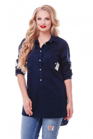 Рубашка «Стиль» синего цвета
