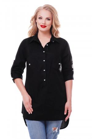 Рубашка «Стиль» черного цвета