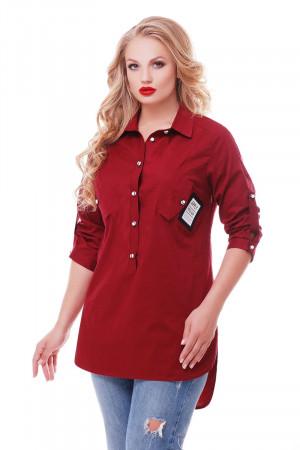 Рубашка «Стиль» цвета бордо