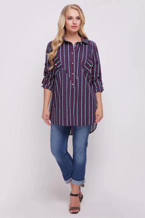Рубашка «Стиль» с принтом-сердечки