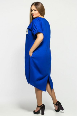 Платье «Бриджит» цвета электрик
