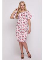 Платье «Бриджит» с красным принтом