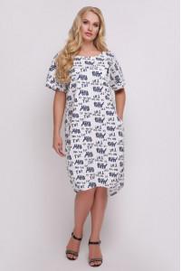 Сукня «Бріджит» з синім принтом
