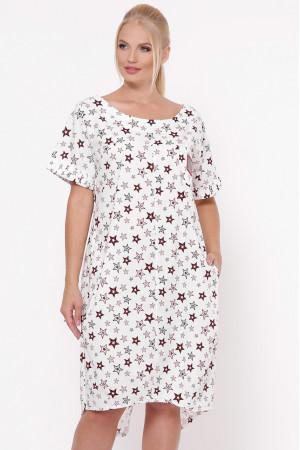 Платье «Бриджит» принт звезды