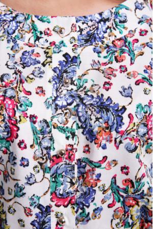Платье «Влада» белого цвета с цветами