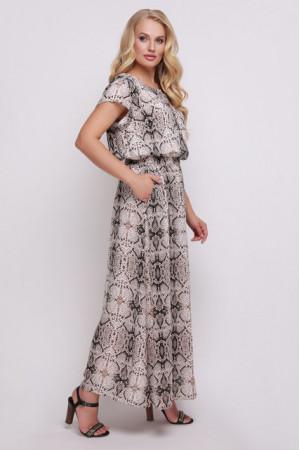 Платье «Влада» серого цвета