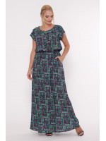 Сукня «Влада» з фіолетовим принтом