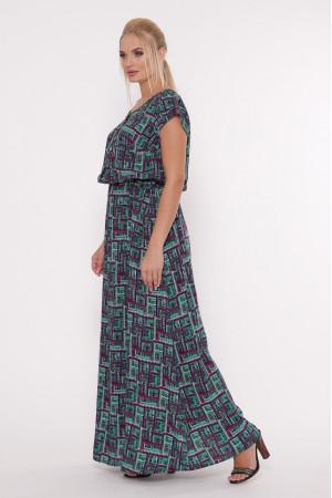 Платье «Влада» с фиолетовым принтом