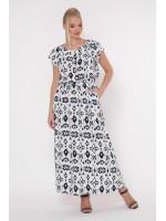 Сукня «Влада» чорно-білий принт