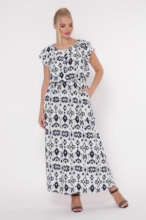 Платье «Влада» черно-белый принт