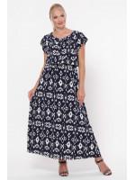 Сукня «Влада» синього кольору з розводами