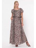 Сукня «Влада» принт світлий леопард