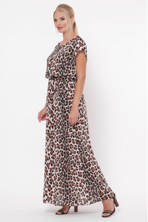 Платье «Влада» принт светлый леопард