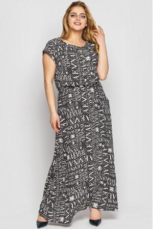 Сукня «Влада» чорно-білого кольору з газетним принтом
