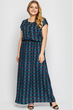 Сукня «Влада» з принтом-клітинка