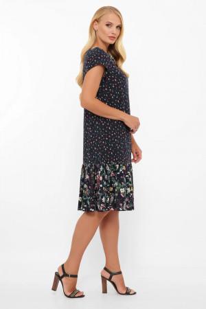 Сукня «Яна» темно-синього кольору з фіалками