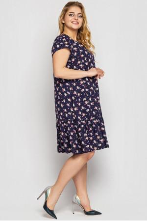 Сукня «Яна» синього кольору з квітковим принтом