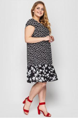 Платье «Яна» черно-белого цвета