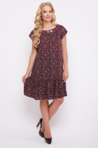 Платье «Яна» бордового цвета