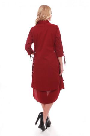 Платье «Евгения» бордового цвета