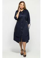 Платье «Евгения» темно-синего цвета