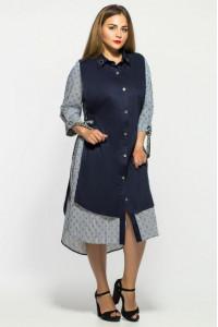 Платье «Евгения» с морским принтом