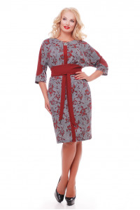 Сукня «Кетлін» бордові троянди