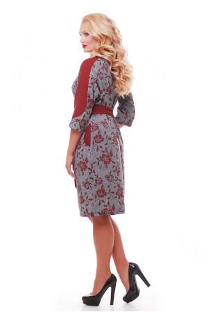 Платье «Кэтлин» бордовые розы
