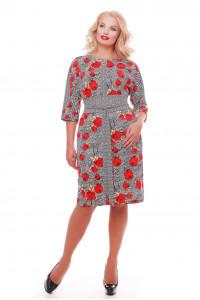 Платье «Кэтлин» с красными маками