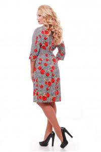 Сукня «Кетлін» з червоними маками