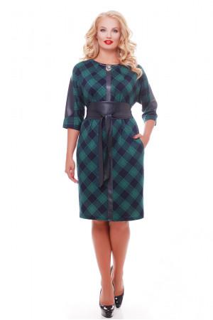 Платье «Кэтлин» в зеленую клетку