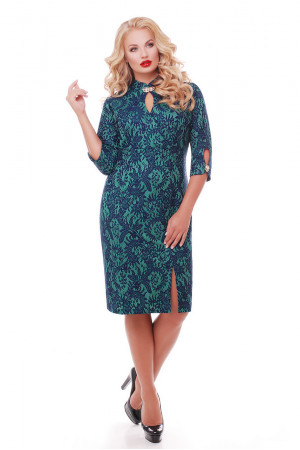 Платье «Лира» изумрудного цвета