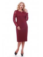 Платье «Аделина» цвета марсала