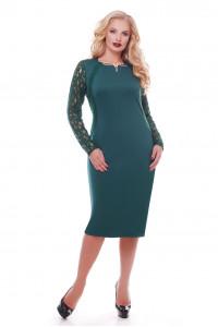Платье «Аделина» изумрудного цвета