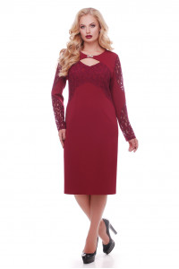 Платье «Шерилин» цвета марсала
