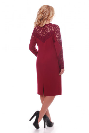 Сукня «Шерілін» кольору марсала