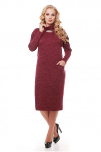 Платье «Алиса» цвета марсала