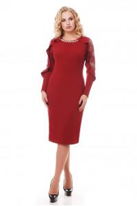 Сукня «Раміна» бордового кольору