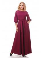 Платье «Вивьен» цвета марсала