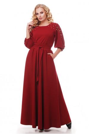 Платье «Вивьен» бордового цвета