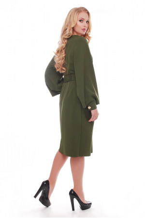Платье «Екатерина» оливкового цвета