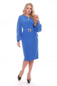 Платье «Екатерина» василькового цвета