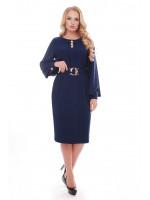 Платье «Екатерина» темно-синего цвета