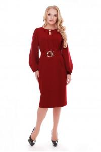 Сукня «Катерина» бордового кольору
